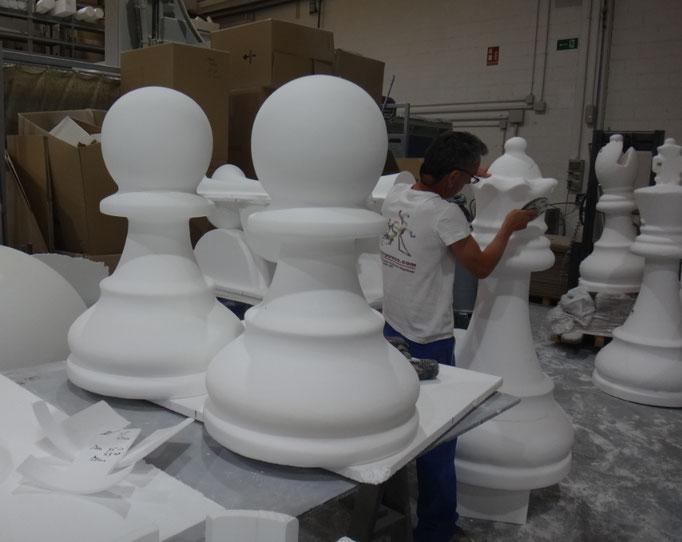 fichas ajedrez gigantes
