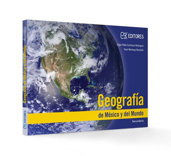 Portada para libro. Geografía. Educación secundaria. Ek Editores. 2013.
