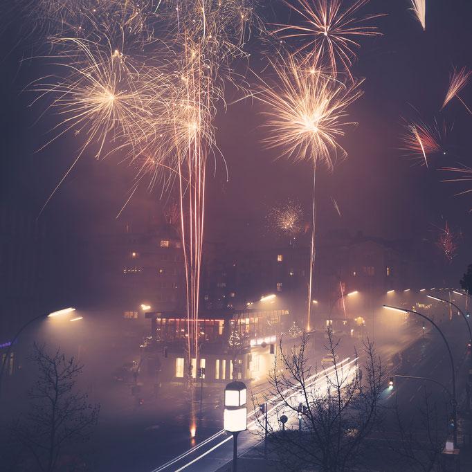 Feuerwerk zu  Silvester in Berlin