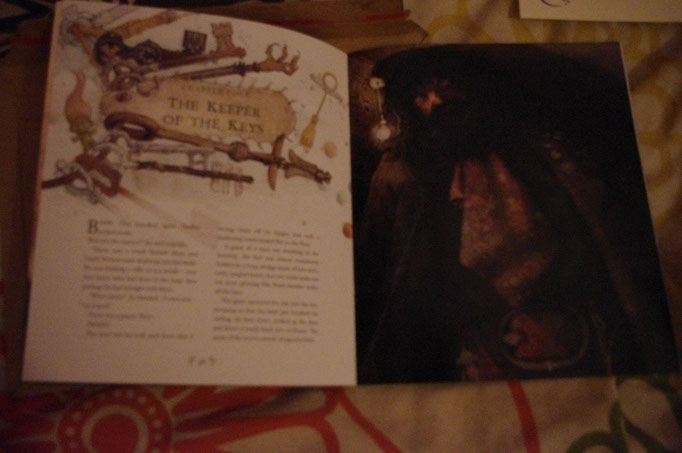 """Première page du chapitre 4 du premier tome """"Le Gardien des Clés"""""""