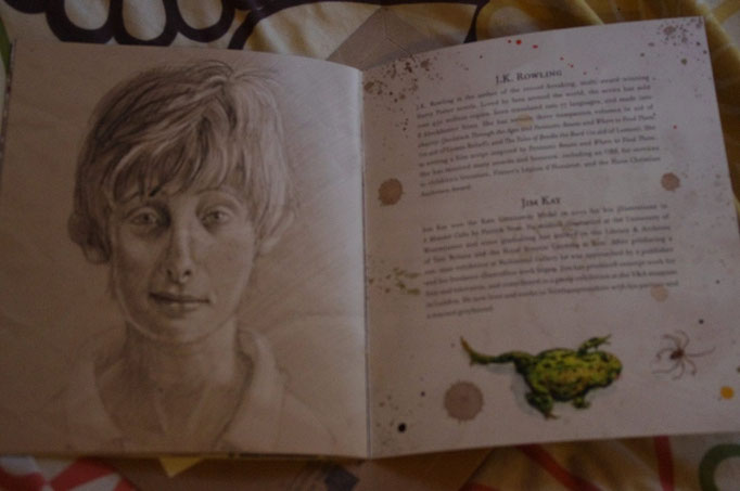 Portrait de Ron, biographie de JK Rowling et de l'illustrateur jim Kay