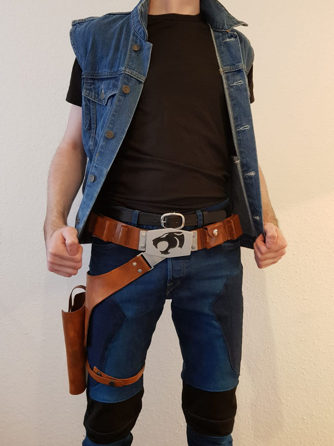 "Parzival-Holster, -Belt and Pants from ""Warner Bros Ready Player One"" -Replica (One piece made for personal use)"