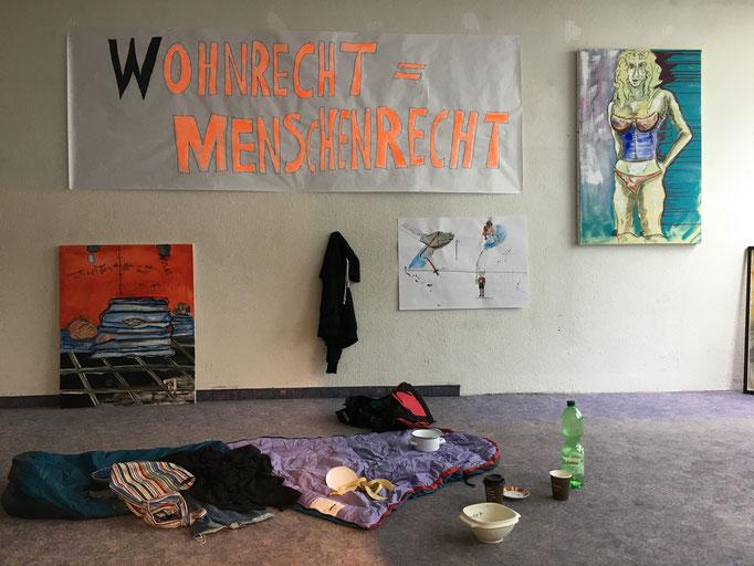 Installation Wohnrecht = Menschenrecht