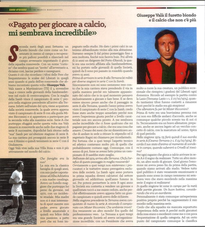 2021 Maggio. DAJE MO'! Il mio articolo dedicato a Giuseppe Valà (Parte 1). La versione integrale dell'intervista si può leggere al seguente link: