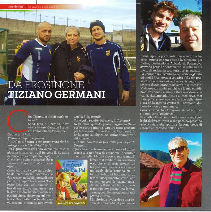 """2018-03-24. DAJE MO'! Il mio articolo della rubrica """"FERE DE FòRI"""", dedicato ai tifosi rossoverdi non ternani: Tiziano Germani"""