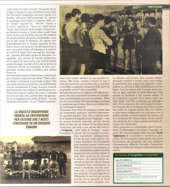 2021 Agosto. DAJE MO'! Il mio articolo dedicato a Riccardo Carapellese (Parte 2). La versione integrale dell'intervista si può leggere al seguente link: