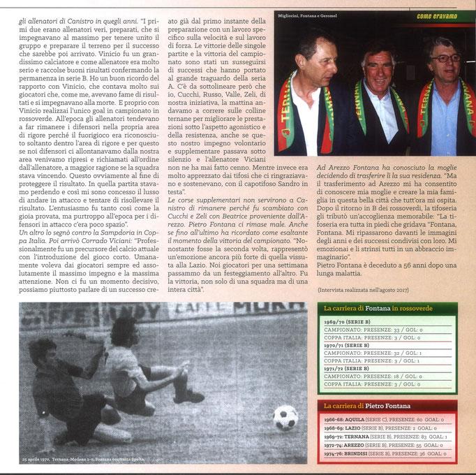 2020 Dicembre. DAJE MO'! Il mio articolo dedicato a Pietro Fontana (Parte 2). La versione integrale dell'intervista si può leggere al seguente link: https://www.ternananews.it/news/incontro-con-un-ex-rossoverde-pietro-fontana-55558