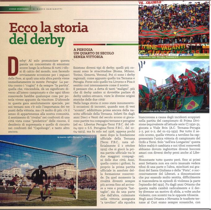 2018-04-21. DAJE MO'! Il mio articolo dedicato alla storia dei derby contro il Perugia (Parte 1)