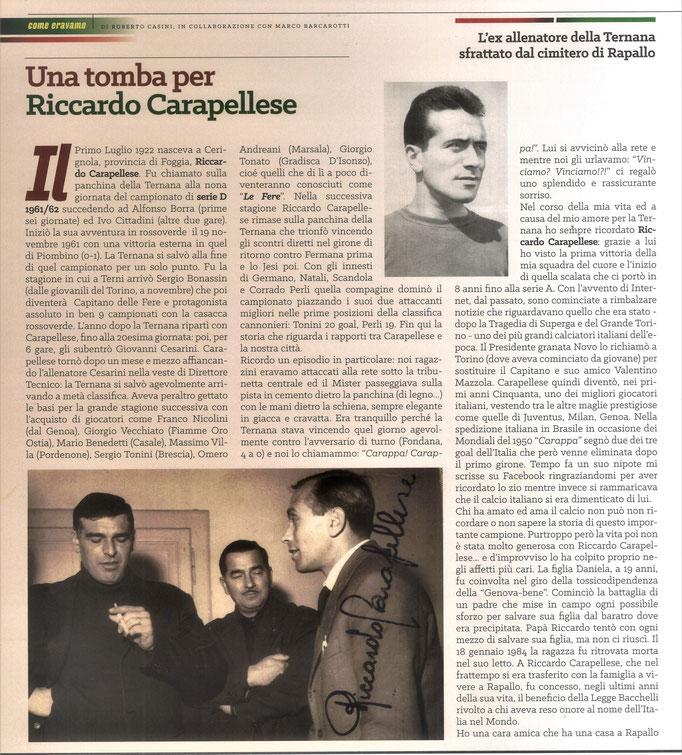 2021 Agosto. DAJE MO'! Il mio articolo dedicato a Riccardo Carapellese (Parte 1). La versione integrale dell'intervista si può leggere al seguente link: