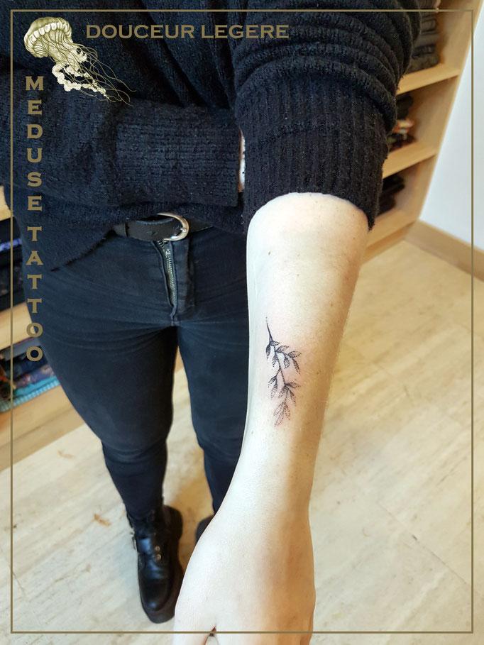 Douceur légère au dotwork - Méduse Tattoo en Belgique