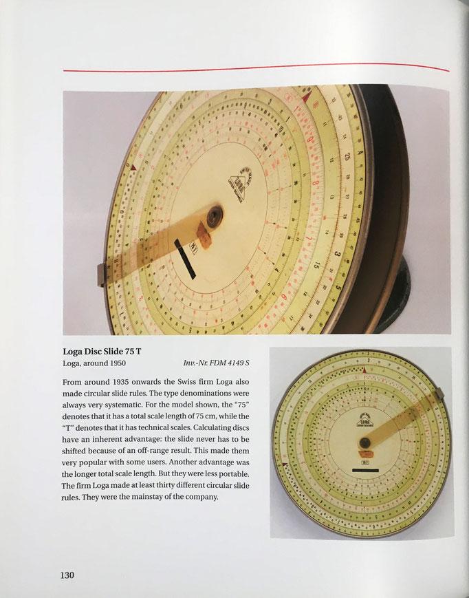 Imagen de la regla de cálculo circular Loga Disc 75 T del año 1950
