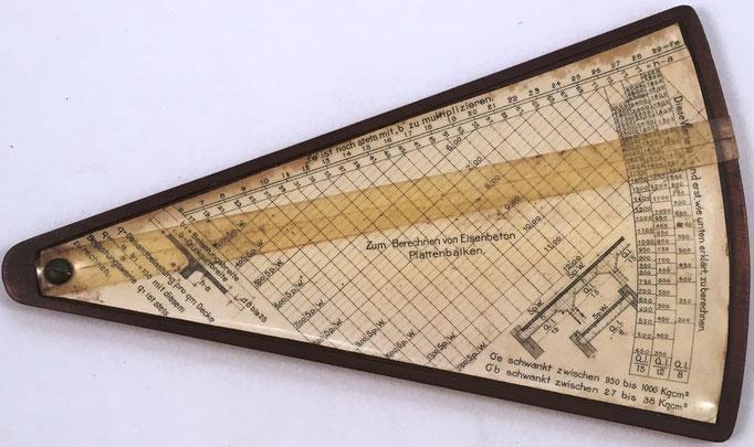 Reverso regla grande MICHAELIS I, para hormigón armado, modelo 1, 23x14 cm