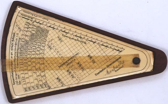 Anverso regla pequeña MICHAELIS, para hormigón armado, 19x12 cm
