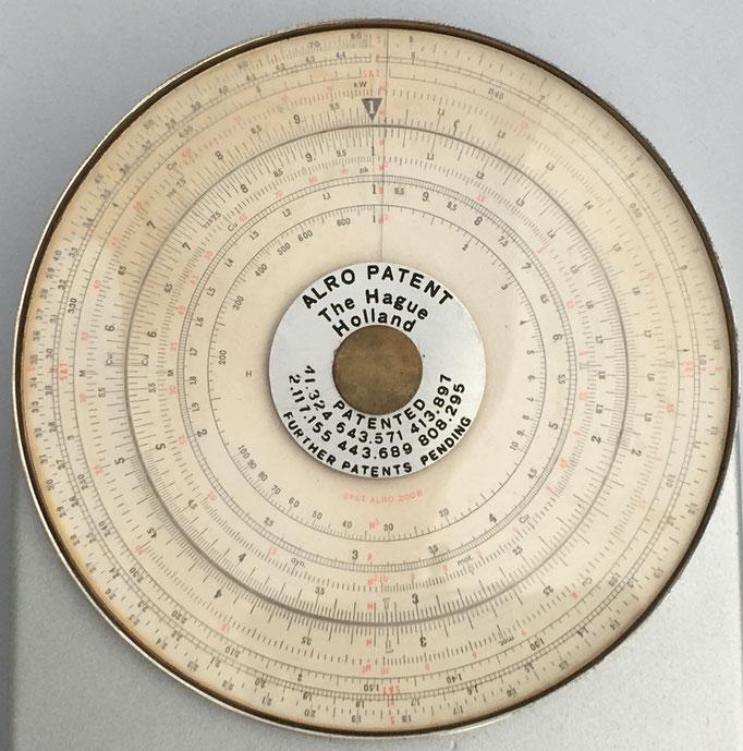 Círculo de cálculo ALRO, The Hague Holland, 12 cm diámetro