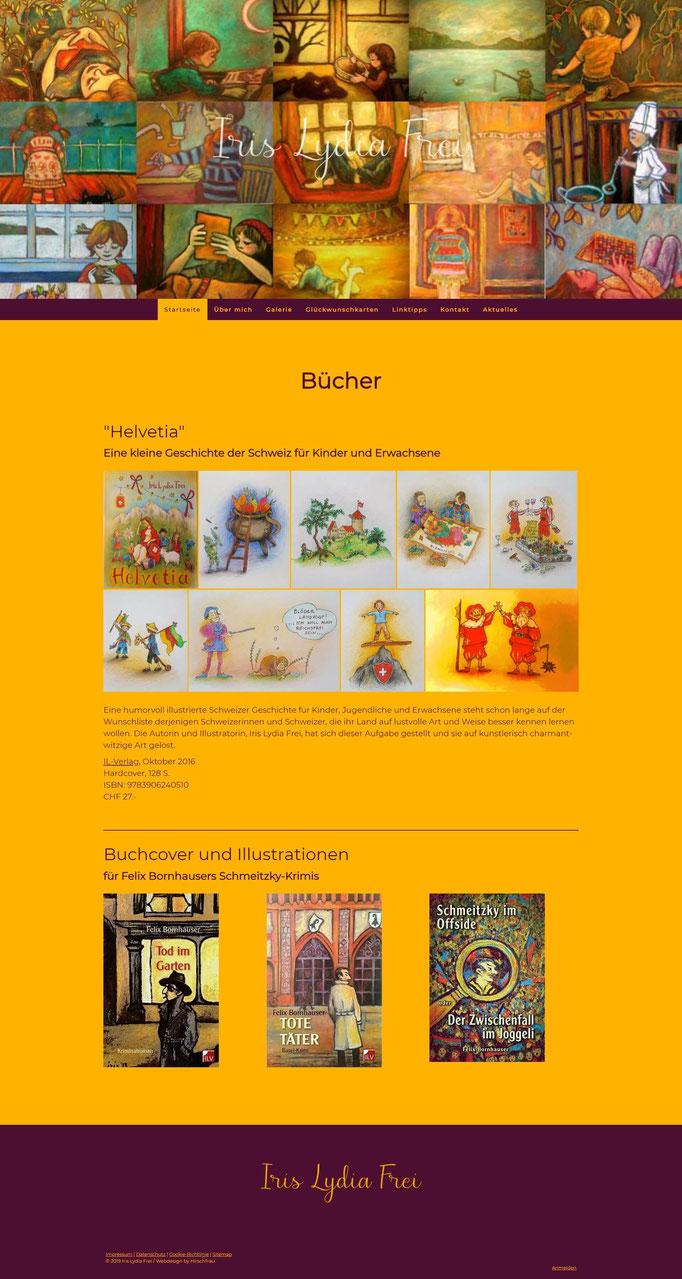 """Beispiel Jimdo Creator Website für Illustratorin (Vorlage""""Stockholm"""")"""