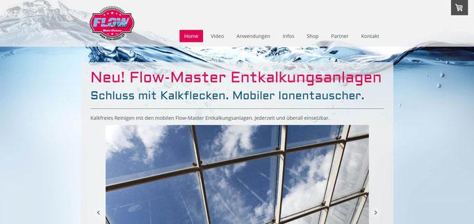"""Beispiel Jimdo Creator Website für Produktpräsentation und Shop (Vorlage """"Malaga"""")"""