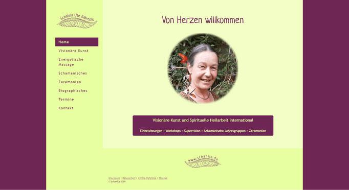 """Beispiel Jimdo Creator Website für Künstlerin und Therapeutin (Vorlage """"Reykiavik"""" mit CSS-Anpassungen)"""