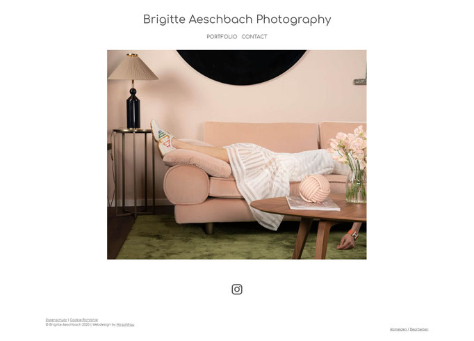 """Beispiel Jimdo Creator Website für Fotografin (Vorlage""""Cape Town"""")"""