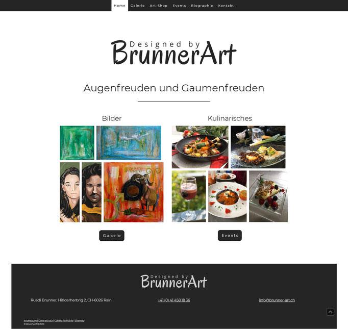 """Beispiel Jimdo Creator Website für Künstler und Koch (Vorlage """"Melbourne"""" mit CSS-Anpassungen)"""