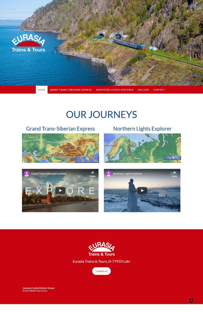 """Beispiel Jimdo Creator Website für Reiseveranstalter (Vorlage """"Stockholm"""")"""