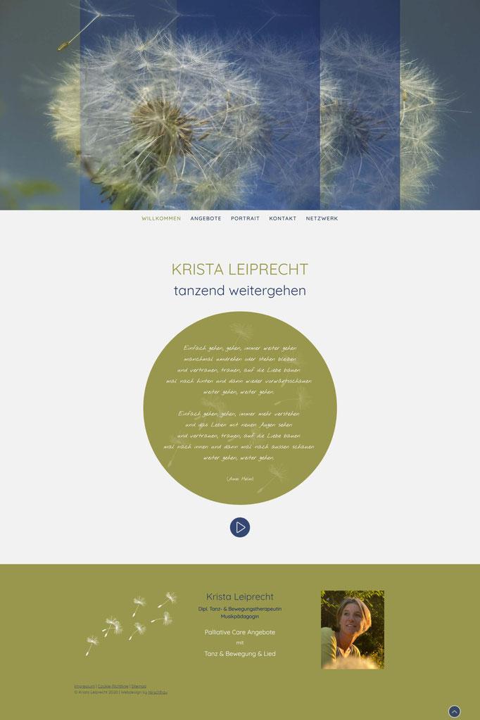 """Beispiel Jimdo Creator Website für Therapie (Vorlage """"Stockholm"""")"""