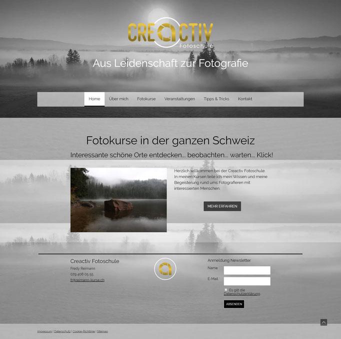 """Beispiel Jimdo Creator Website für Foto-Kurse (Vorlage """"Rio de Janeiro"""")"""