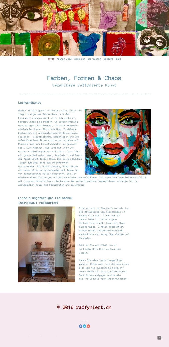 """Jimdo Creator Website (Vorlage """"Zürich"""")"""