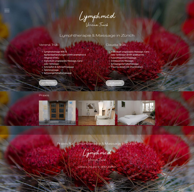 "Jimdo Creator Website (Vorlage ""Cape Town"")"