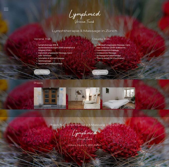 """Beispiel Jimdo Creator Website für Therapie (Vorlage """"Cape Town"""")"""