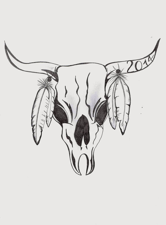 Gazelle Skull_Black & Withe