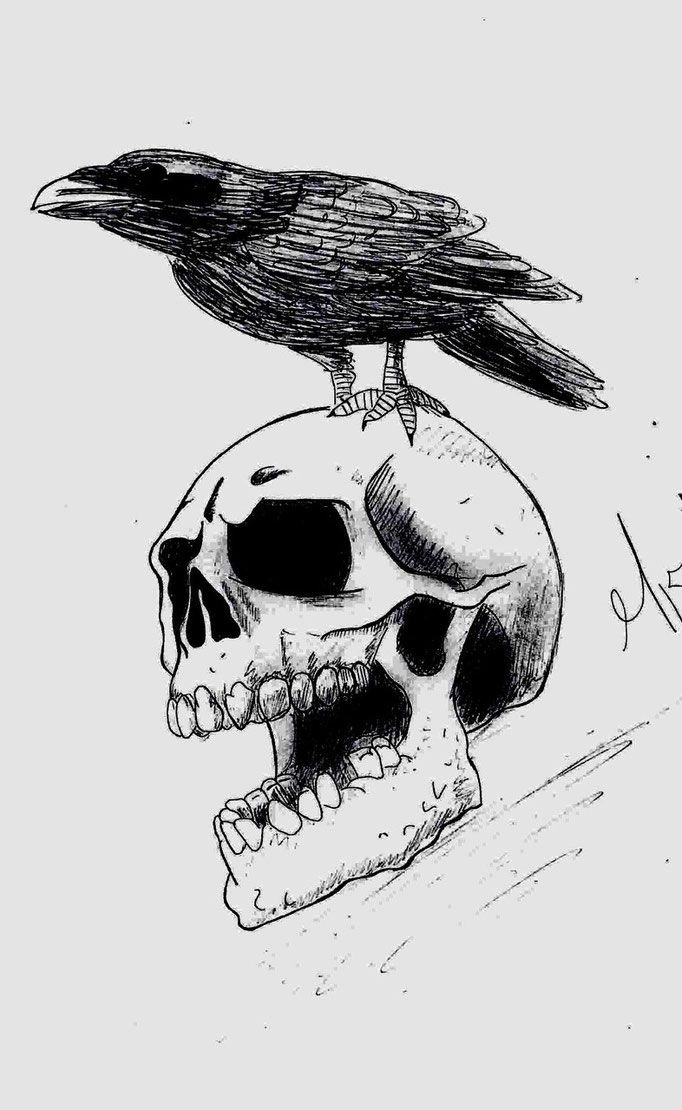 Skull_Black & Withe