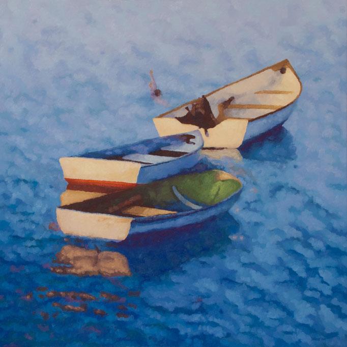 Blue Paradise, 44 x 44, Commission, SOLD