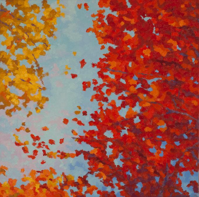 Magnificent Autumn, 24 x 24 , SOLD