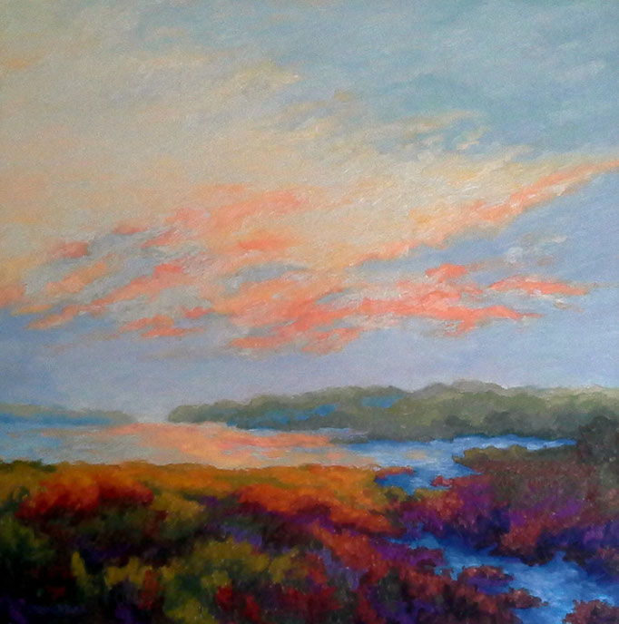 Apricot Evening, 24x24, SOLD