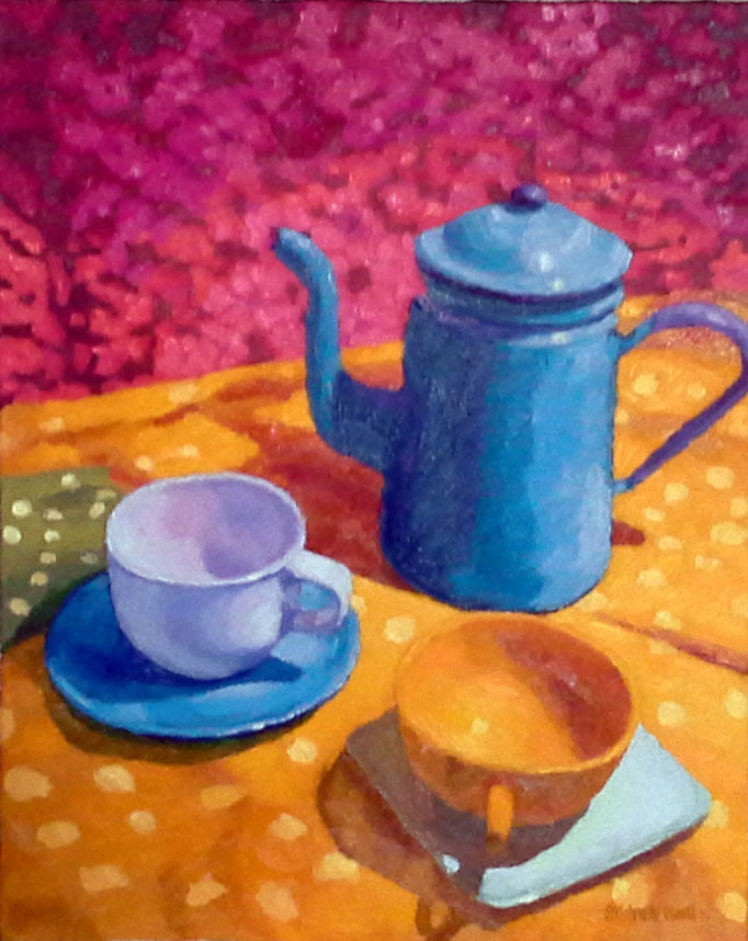 Morning With Spot, 20x16, SOLD