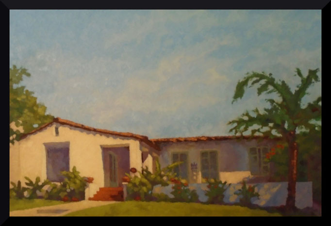 Spanish Charm, 24 x 36, Commission, SOLD- contact me for your house portrait today... be inspired...