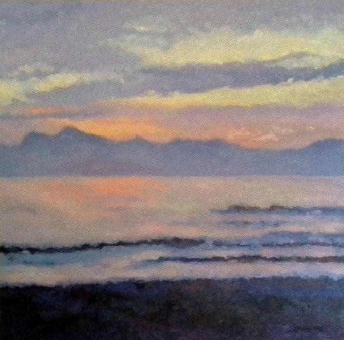 Twilight, 40 x 40, Commission, SOLD