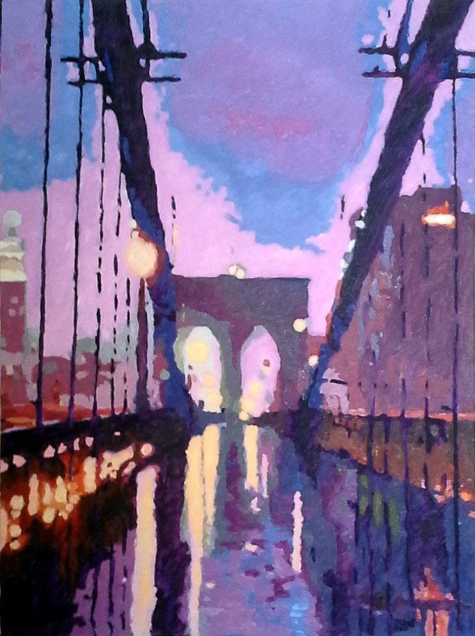 Brooklyn Twilight, 40x30, SOLD
