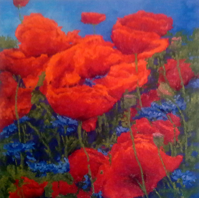 Poppy Swing, 24x24, SOLD