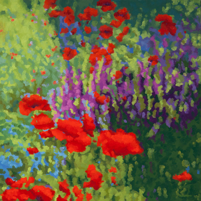 Poppy Dreams, 36 x 36, SOLD