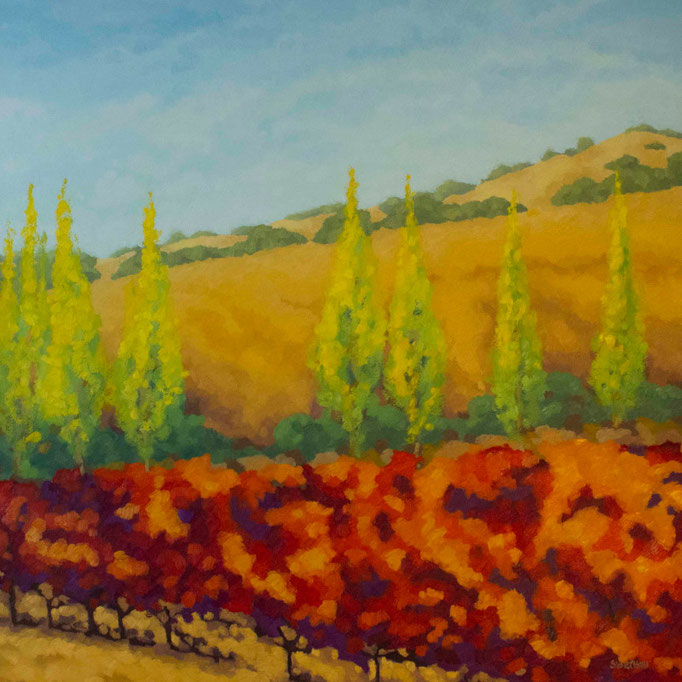Vineyard Vista, 36 x 36, SOLD
