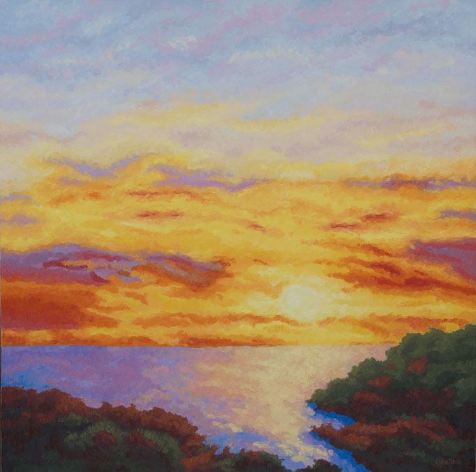 Evening Show, 40 x 40, Commission, SOLD