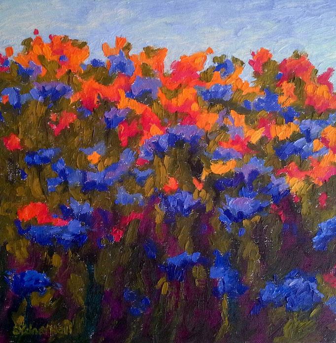 Summer Bouquet, 12x12, SOLD
