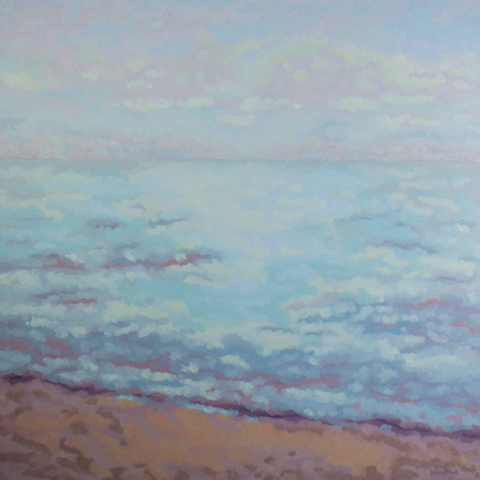 Impressionist Evening, 36 x 36, SOLD