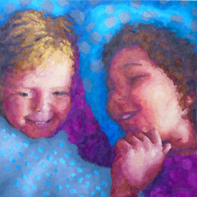 Wrapped in Love, 24 x 24, Commission, SOLD- special moments captured in oil... be inspired...