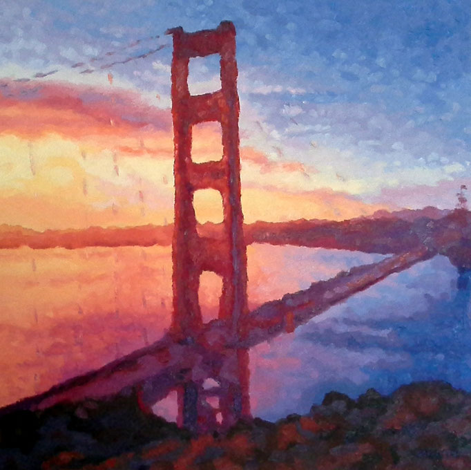 Bay View Glow, 24 x 24, SOLD- I'm a magnificent birthday present!