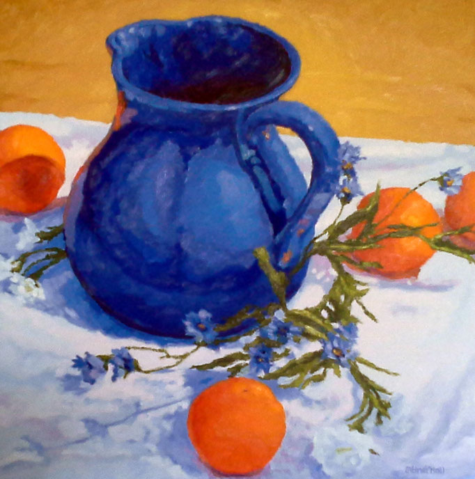 Blue and Orange, 24 x 24, SOLD