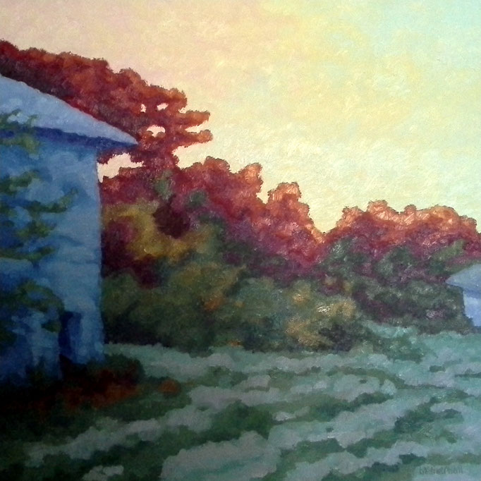 Blushing Farm, 24 x 24, SOLD