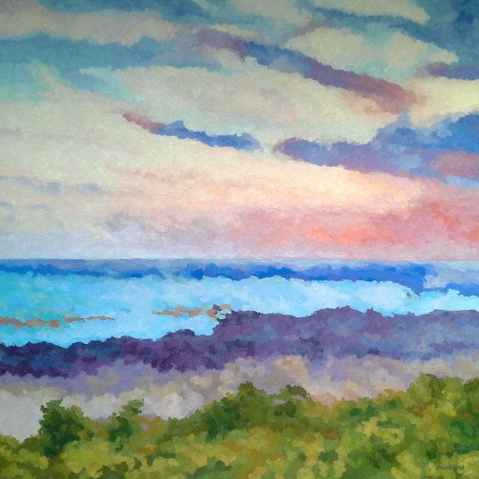 Seashore Serenade, 36x36, SOLD