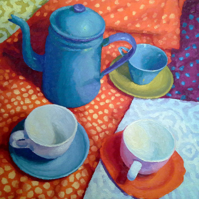 Steeped In Spots, 24x24, SOLD